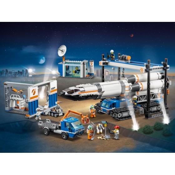 60229 Площадка для сборки и транспорт для перевозки ракеты Lego City