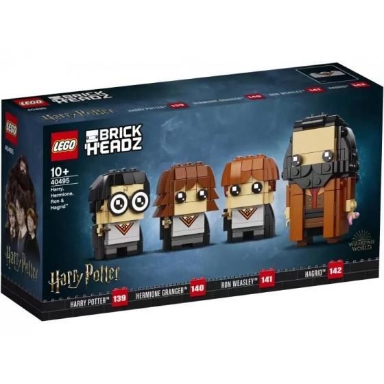 Конструктор LEGO BrickHeadz 40495 Сувенирный набор Гарри, Гермиона, Рон и Хагрид