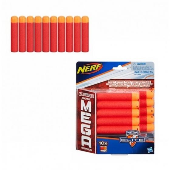 Набор стрел N-Strike Elite Mega 10 штук, a4368 Nerf Hasbro